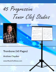 45 Progressive Tenor Clef Studies