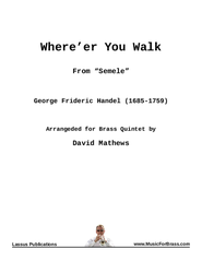Where'er You Walk